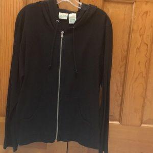 Black St. John's Bay zippered sweatshirt with hood
